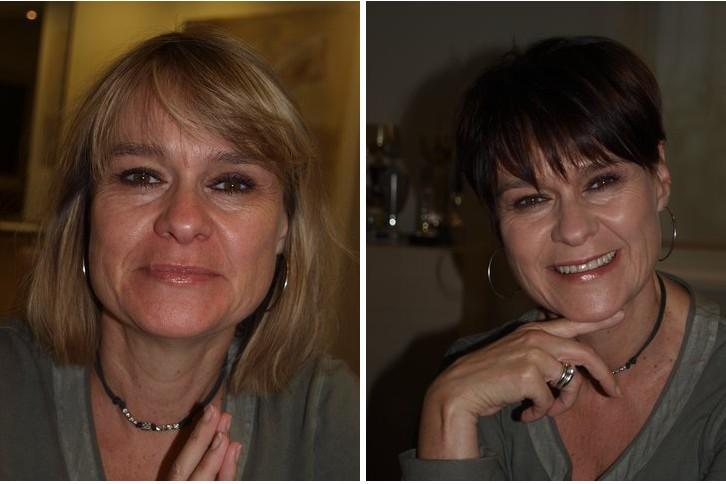 Vorhernachher Frisuren Damen Mahnaz Friseur Hamburg