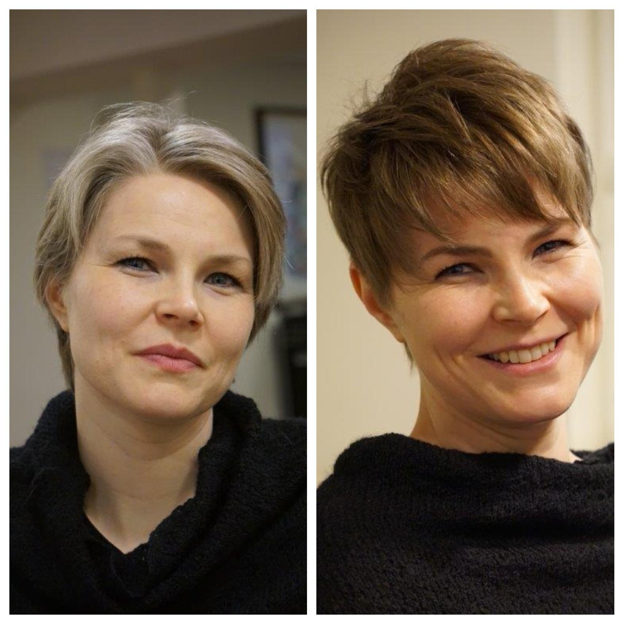 Vorher Nachher Frisuren Damen Mahnaz Friseur Hamburg